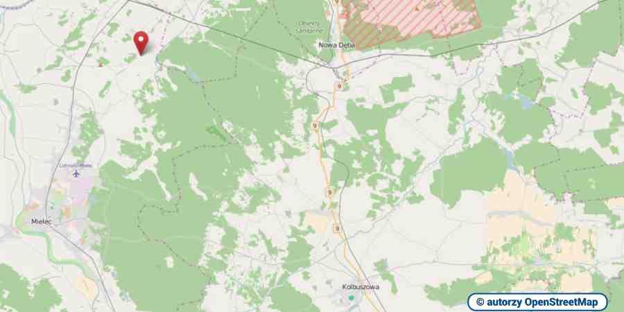 lokalizacja oferty 4051 LOKUM Nieruchomości Mielec na mapach OpenStreetMap