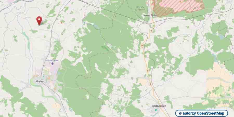 lokalizacja oferty 00353 LOKUM Nieruchomości Mielec na mapach OpenStreetMap