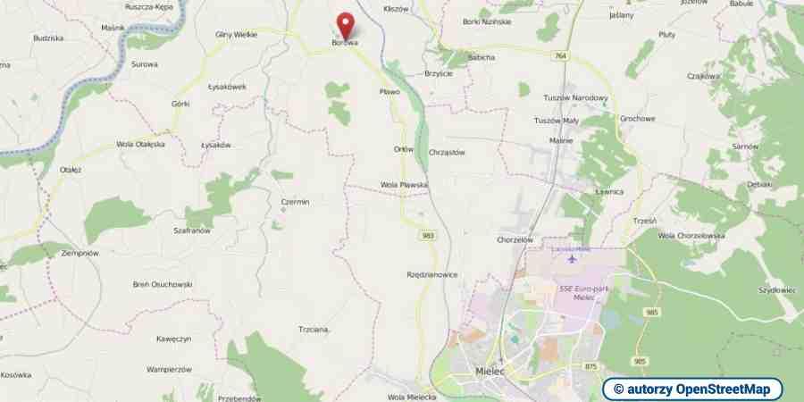 lokalizacja oferty 3056 LOKUM Nieruchomości Mielec na mapach OpenStreetMap
