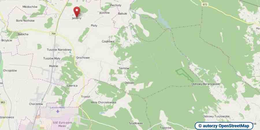 lokalizacja oferty 3081 LOKUM Nieruchomości Mielec na mapach OpenStreetMap