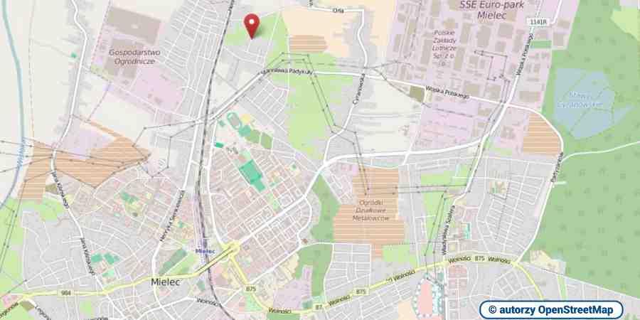 lokalizacja oferty 3082 LOKUM Nieruchomości Mielec na mapach OpenStreetMap