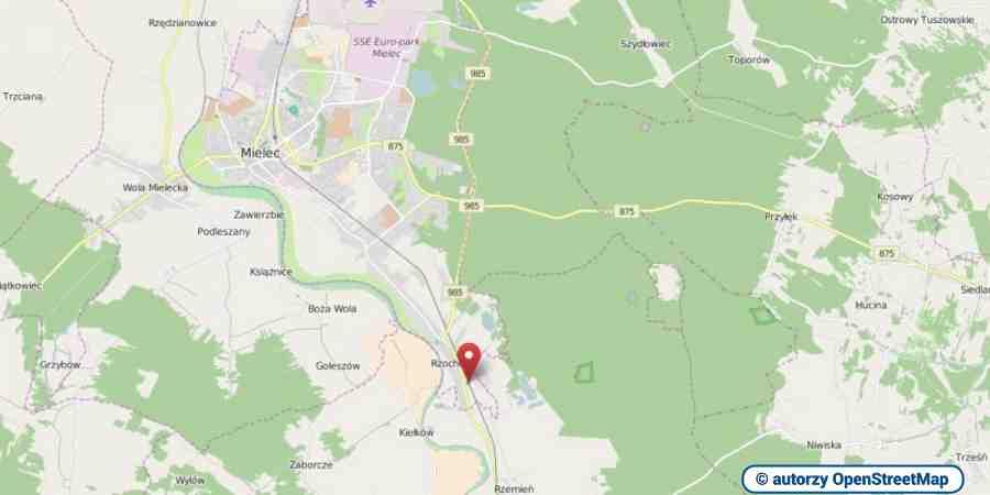 lokalizacja oferty 00367 LOKUM Nieruchomości Mielec na mapach OpenStreetMap