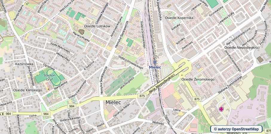 lokalizacja oferty 00716 LOKUM Nieruchomości Mielec na mapach OpenStreetMap