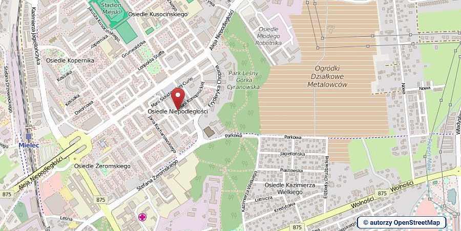 lokalizacja oferty 00756 LOKUM Nieruchomości Mielec na mapach OpenStreetMap