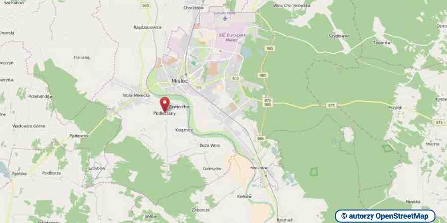 lokalizacja oferty 00371 LOKUM Nieruchomości Mielec na mapach OpenStreetMap