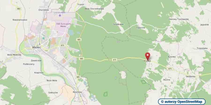 lokalizacja oferty 3070 LOKUM Nieruchomości Mielec na mapach OpenStreetMap
