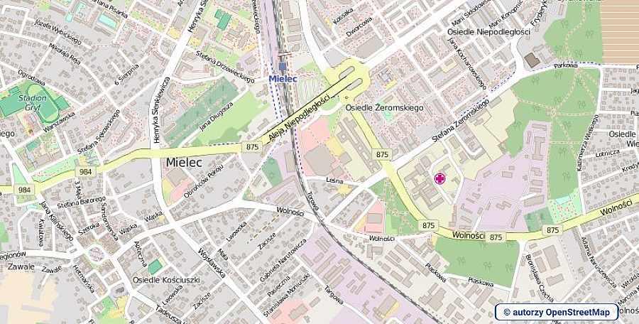 lokalizacja oferty 0703 LOKUM Nieruchomości Mielec na mapach OpenStreetMap