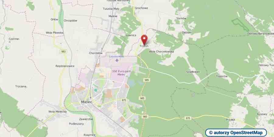 lokalizacja oferty 0329 LOKUM Nieruchomości Mielec na mapach OpenStreetMap