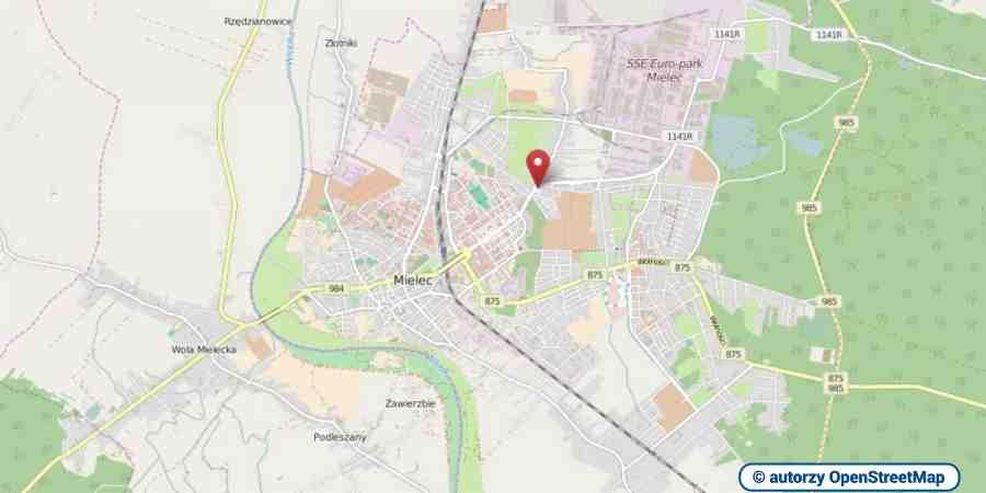 lokalizacja oferty 3080 LOKUM Nieruchomości Mielec na mapach OpenStreetMap