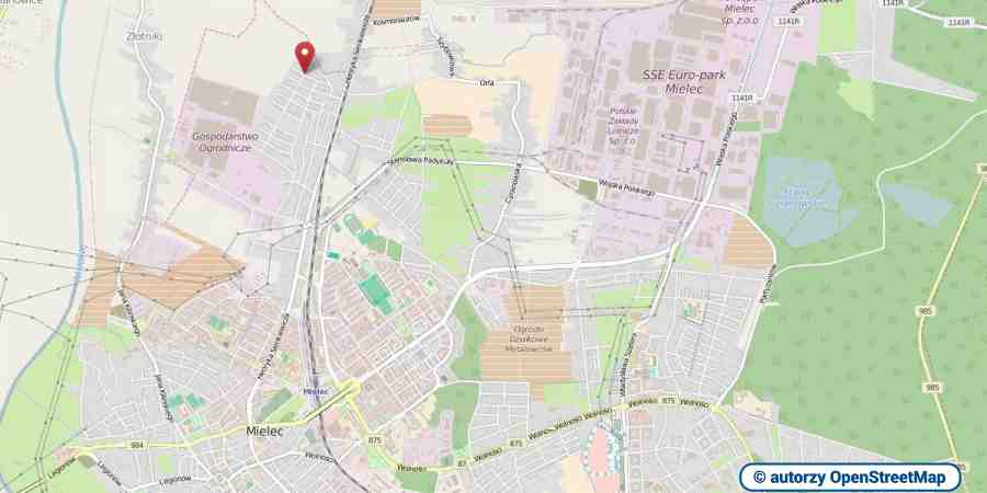 lokalizacja oferty 3002 LOKUM Nieruchomości Mielec na mapach OpenStreetMap