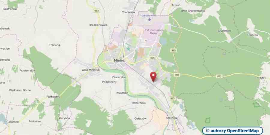 lokalizacja oferty 00366 LOKUM Nieruchomości Mielec na mapach OpenStreetMap